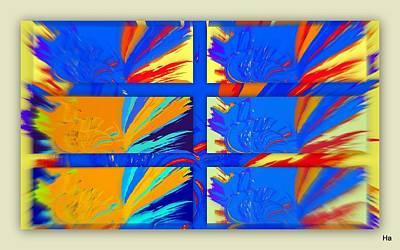 Digital Art - Sun Window by Halina Nechyporuk