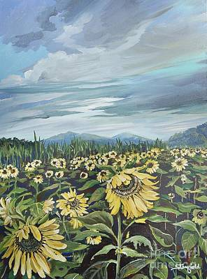 Smokey Mountains Painting - Sun Worshipper by Johnnie Stanfield
