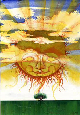African-american Mixed Media - Sun1 by Anthony Burks Sr