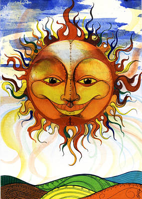 African-american Mixed Media - Sun2 by Anthony Burks Sr