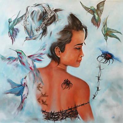 Phantasie Painting - Sunanta by Harri Spietz