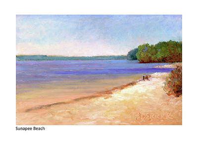 Pastel - Sunapee Beach by Betsy Derrick