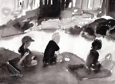 Sunbathers At Seafarer's Park Art Print
