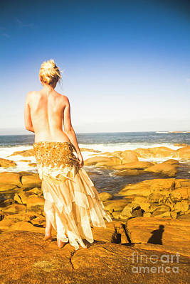 Sexy Woman Nature Photograph - Sunbathing By The Sea by Jorgo Photography - Wall Art Gallery