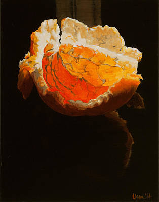 Sunbathing Clementine Original by Lissa Banks