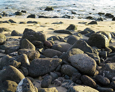 Photograph - Sunbathing Stones by Kathy Corday