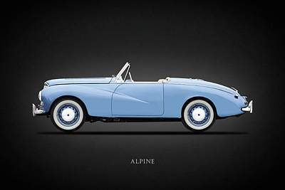 Sunbeam Alpine Sport 1953 Art Print by Mark Rogan