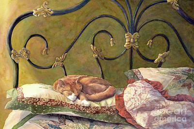 Catnap Painting - Sunbeam Dreamin by Malanda Warner