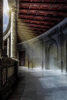 Andalusien Photograph - Sunbeam In Alhambra by Heiko Schneider
