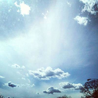 Naturelover Photograph - Sunbeam In The Clouds. #cloudscape by Genevieve Esson