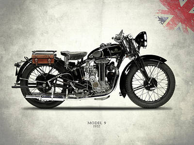 Motorcycle Photograph - Sunbeam Model 9 by Mark Rogan