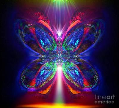 Blue Healer Digital Art - Sunbeam Pearwhistle by Raymel Garcia