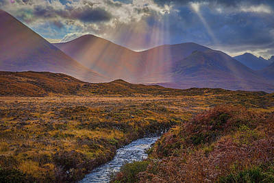 Photograph - Sunbeams At Sligachan Bridge #h4 by Leif Sohlman