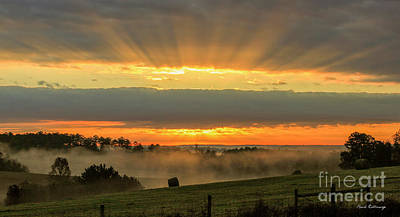 Photograph - Sunbeams Banner Landscape Sunrise Art by Reid Callaway