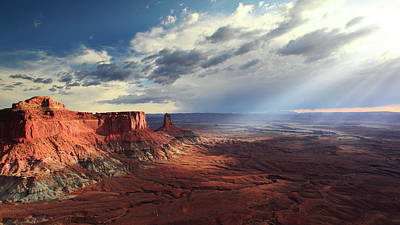 Photograph - Sunbeams In Canyonlands National Park by Roupen  Baker