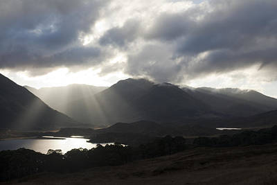 Photograph - Sunbeams In Glen Affric by Sue Arber