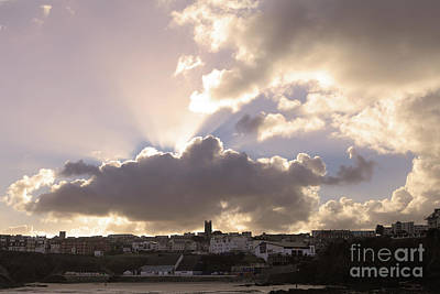 Photograph - Sunbeams Over Church In Color by Nicholas Burningham