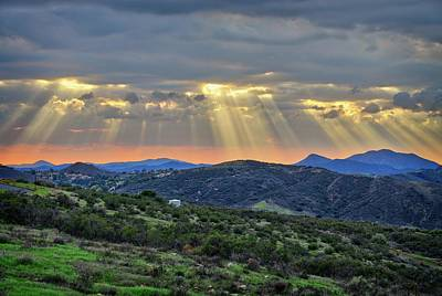 Photograph - Sunbeams Over Moorpark Hills by Lynn Bauer