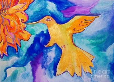 Painting - Sunbird by Lil Owl Studio