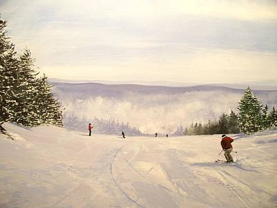 sunbowl at Stratton Mountain Vermont Art Print by Ken Ahlering