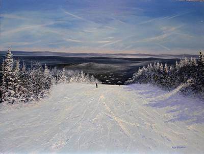 Painting - Sunbowl Ski by Ken Ahlering