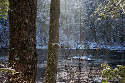 Photograph - Sunbreak On A Snowy Day by Belinda Greb