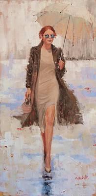 Painting - Sunbrella II by Laura Lee Zanghetti