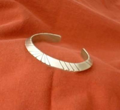 This Heavy Gauge Triangular Silver Bracelet Is Offered In Three Sizes Jewelry - Sunburst   Silver Bracelet by Eddie Romero