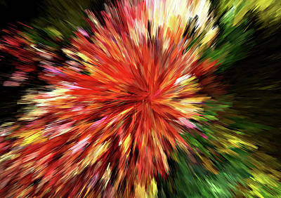 Digital Art - Sunburst Abstract Wall Art by Georgiana Romanovna