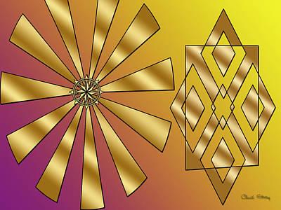 Digital Art - Sunburst And Friend by Chuck Staley
