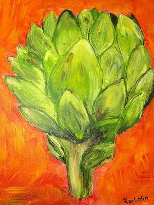 Sunburst Artichoke Original by S Vivian Ruiloba