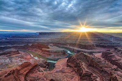Photograph - Sunburst At Dead Horse Point by Denise Bush