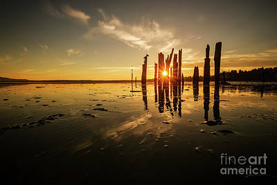 Locust Sunset Photograph - Sunburst At Locust Beach by Paul Conrad