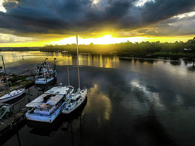 Photograph - Sunburst At The Bon Secour Fish by Michael Thomas