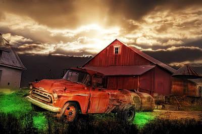 Bale Digital Art - Sunburst At The Farm by Bill Cannon