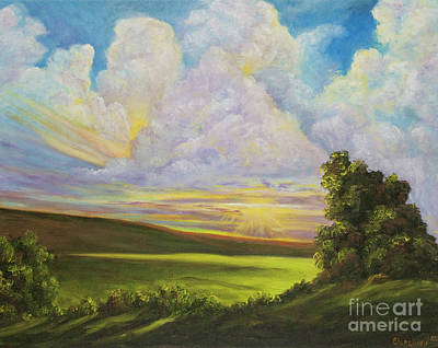 Painting - Sunburst by Charlotte Blanchard