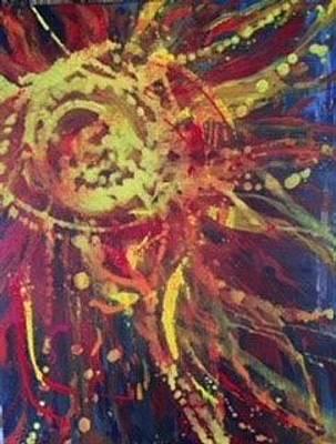 Painting - Sunburst by Debbie Frame Weibler