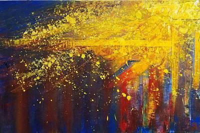 Wall Art - Painting - Sunburst by Debra Link