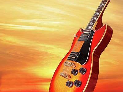 Photograph - Sunburst Guitar At Sunset by Gill Billington