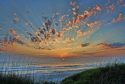 Photograph - Sunburst by HH Photography of Florida