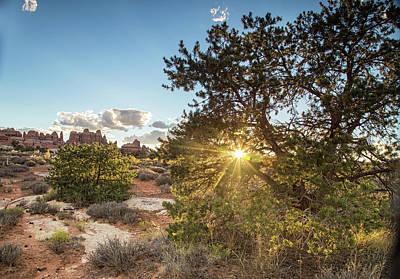 Photograph - Sunburst In Canyonlands by Kunal Mehra