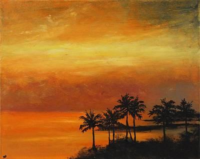 Yello Painting - Sunburst by Joanna Deritis