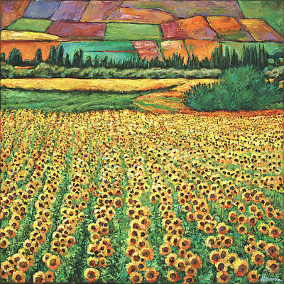 Sunflower Painting - Sunburst by Johnathan Harris