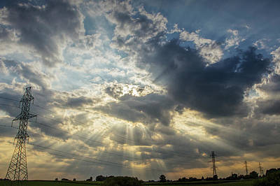 Photograph - Sunburst Over Ontario Landscape In Canada by Randall Nyhof
