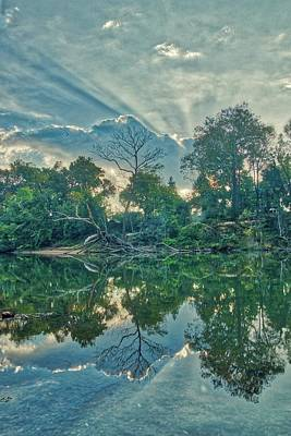 Photograph - Sunburst Over The Meramec by Harold Rau
