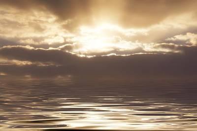 Sunburst Over Water Art Print by Bill Cannon