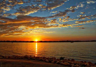Texas Lake Photograph - Sunburst Ride by Linda James