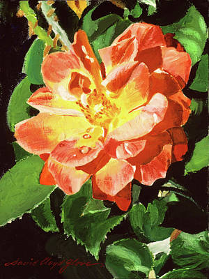 Painting - Sunburst Rose by David Lloyd Glover