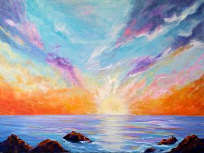 Painting - Sunburst by Rosie Sherman