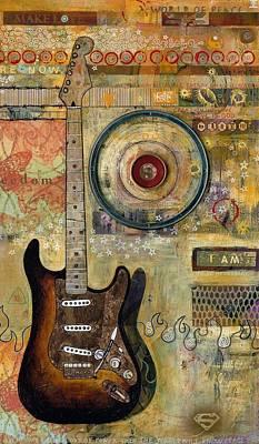 Fender Strat Painting - Sunburst Strat by Ray Stephenson